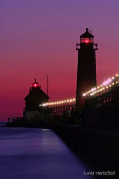 Grand Haven Lighthouse #travel #lighthouse #Michigan