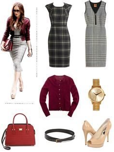 Early this year, Victoria perfectly accented her printed sheath with a vivid burgundy bag and cardigan – the season's hottest hue. A belt and a pair of nude pumps tie the whole look together while keeping the accessories to a minimum with just a watch. Victoria Beckham Outfits, Victoria Beckham Style, Office Fashion, Business Fashion, Business Style, Business Attire, Burgundy Bag, Work Wardrobe, Wardrobe Basics