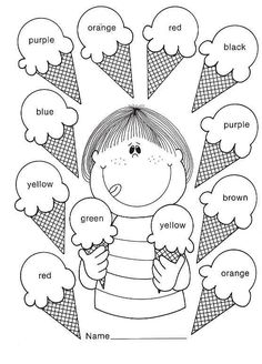 Kid Activities English Lessons Los Colores En Ingles Mas is part of English classroom - Preschool Learning Activities, Color Activities, Preschool Worksheets, Kids Learning, English Worksheets For Kids, English Lessons For Kids, Kids English, English Activities For Kids, English English