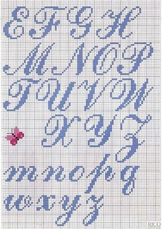 This kind of photo is honestly an exceptional design theme. Cross Stitch Alphabet Patterns, Cross Stitch Letters, Cross Stitch Designs, Stitch Patterns, Cactus Cross Stitch, Cross Stitch Baby, Cross Stitching, Cross Stitch Embroidery, Embroidery Patterns