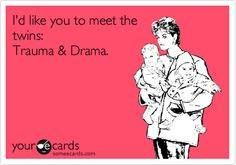 Trauma & Drama Twins visit our facebook page for all things twins https://www.facebook.com/TWINSGIFTCOMPANY