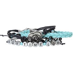 All Time Low Beaded Bracelet Set Hot Topic ($24) ❤ liked on Polyvore featuring jewelry, bracelets, accessories, beading jewelry, beaded bangles, beads jewellery and beaded jewelry