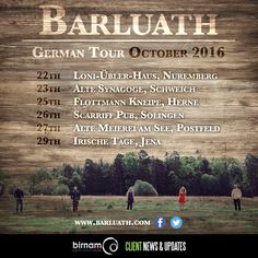 Barluath return to Germany at the end of the month. For more info and tickets, see their website: http://barluath.com/shows/