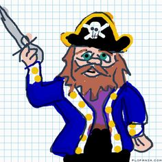 A Pirate by Donald Duck, Pirates, Disney Characters, Fictional Characters, Animation, Drawings, Sketches, Sketch, Drawing