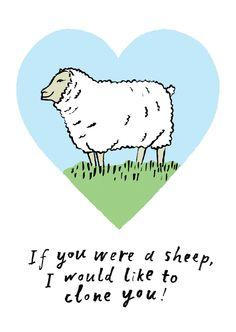 £2.50 A6 greetings card inclusive envelope emilyhayes.co.uk #dolly #sheep #greetingscards #emilyhayes