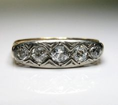 0.50CT DIAMOND RING/BAND VICTORIAN STYLE ART DECO WEDDING ENGAGEMENT ANNIVERSARY | eBay