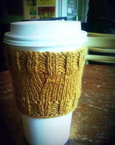 Coffee Cover Up Cozy  - via @Craftsy