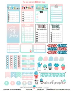 Succulents Planner Stickers Printable | For personal use only