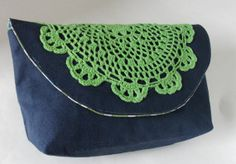 Lime Green Doily Clutch by all2wonderful on Etsy, $15.00