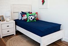 Nautical Navy has remained a top seller!  We know why, this classic deep blue color coordinates so well with just about any decor. This solid color can go both feminine, masculine or for any age depending on how you accessorize it. Teen Room Decor, Bedroom Decor, Bedroom Ideas, Navy Boys Rooms, Beddys Bedding, Zipper Bedding, Feather Pillows, Make Your Bed, Kid Beds