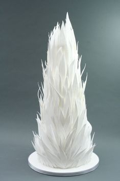 Feathery wedding cake designed by Victoria Made