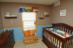 Cute Jungle Themed Baby Room