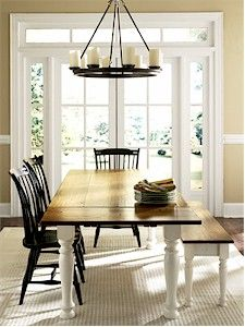 Beautiful custom farmhouse table...I will own one of these one day. Bonus: Made in Pawleys Island, SC!