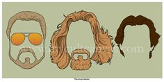 The Big Lebowski The DUDE Abides Original Art Print by Phil Gibson Coen Brothers Sweater Poster