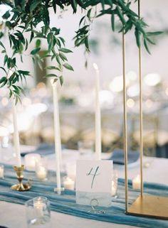 Inspire-se com estas ideias para decoração o seu casamento em tons de azul. Vai apaixonar-se por todas! Image: 18