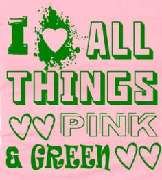 Love your colors! Pink and green all the way with #AKA.