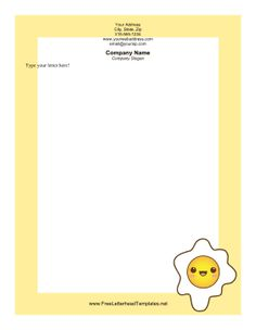 Great for chefs and restaurants this food letterhead has a