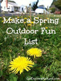 Make a spring outdoor fun list