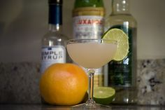 Hemingway Daquiri  1.5 oz light rum  .75 oz maraschino  1 oz grapefruit juice  .5 oz lime juice