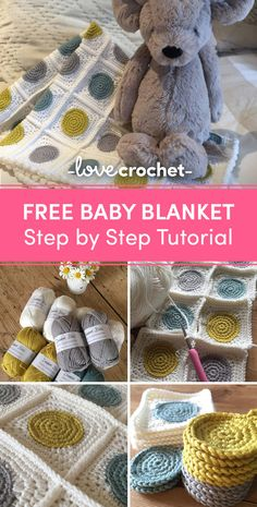 A homemade blanket is the perfect gift for any new baby and Kate Eastwood's blanket is not only bright and colourful, but will teach them all about shapes before they know it! Find this tutorial at LoveCrochet.Com.