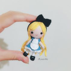 My crochet doll, Alice ,amigurumi❣️