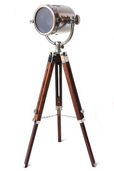 Vintage home decor floor lamp searchlight telescopic tripod vintage chrome searchlight corner floor lamp spotlight tripod stand decor art audiocablefo