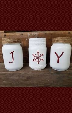 Decorative mason jar set I plan to use for the holiday and winter season | Christmas decor | affiliate