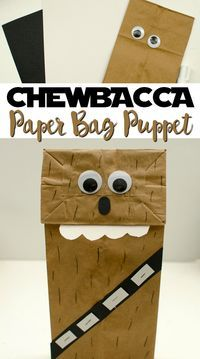 This Chewbacca Paper Bag Puppet is an easy craft for kids of all ages and perfect as a rainy day activity.