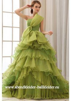 Elegantes Abendkleid Ballkleid Online in Grün