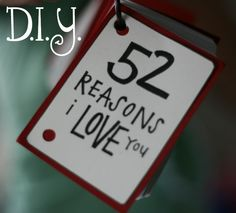 DIY: 52 reasons I love you