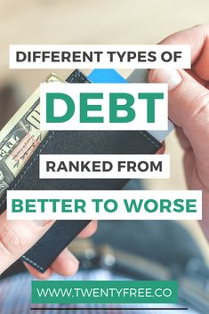 Find out why good debt is a myth, and see the ranking of best debt to worst debt. plan|student loan debt|frugal living|budget tips|student loans|financial planning| Ways To Save Money, Money Tips, Money Saving Tips, Money Hacks, Paying Off Student Loans, Student Loan Debt, Mortgage Tips, Saving For Retirement, Managing Your Money