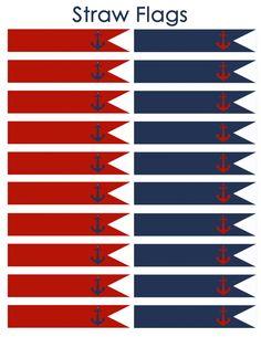 Descarga inmediata náutica banderas de paja por DecorAtYourDoor