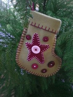 """Whether you're using these stockings for ornaments, gift wrapping, or silverware holders, they are simple to make and allow for tons of self expression. Use the main pattern for the stocking base and decorate with the shapes included. Or, express yourself and decorate to suit your fancy.  Materials: 8"""" x 12"""" wool felt for …"""