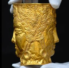 Gold vessel believed to be from the Achaemenid empire, ca. 4th century B.C.