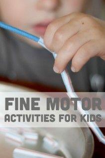 Lots of fine motor activities for kids