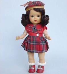 Muffie in Scottish outfit.