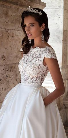 bfdaa495f9 Ball gown wedding dress by Milla Nova 2016 Bridal Collection Kira |  Princess bridal gown with