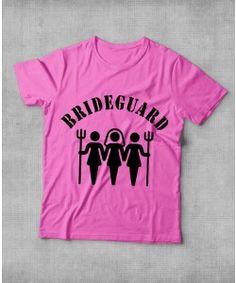 """Camiseta """"Bride Guard"""" para Madrinhas de Casamento"""