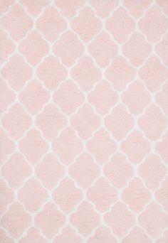 cute pink pattern rug for nursery
