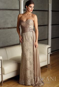 Taupe Lace Gown $898.00