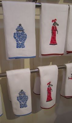 Blue Ginger Jars (towels by Matouk and iomoi)