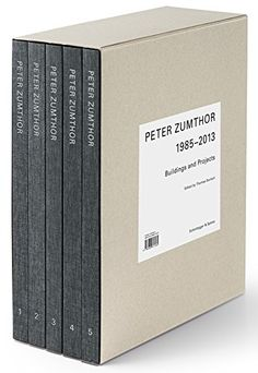 Peter Zumthor: Buildings and Projects, 1985-2013 [5 Volume Set] by Thomas Durisch http://www.amazon.com/dp/3858817236/ref=cm_sw_r_pi_dp_POqvwb09ZJEBD