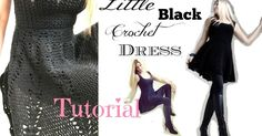 My Little Black Crochet Dress  Tutorial You will need: Berroco Comfort DK 50% Superfine Nylon/50% Superfine Acry...