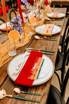 Colored Wedding Dresses, Wedding Colors, Traditional Wedding Attire, Nontraditional Wedding, Orange Wedding, Wedding Reception Decorations, Wedding Details, Wildflowers, Wedding Inspiration