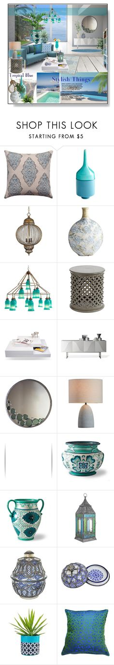 tropical blues by idetached liked on polyvore featuring interior interiors interior - Cyan Canopy Interior