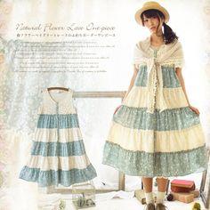 Harajuku Casual Floral Embroidery Striped Ruffles Tank Dresses Women Mori Girl Cute Kawaii Summer Lace Sleeveless Dress C069