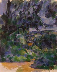 Paul Cézanne, Paesaggio Blu, 1904-1906, olio su tela, cm 100,5 x 81, Museo Statale Ermitage, S. Pietroburgo