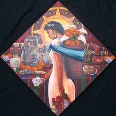 Las pinturas de Rick Ortega trascienden el tiempo y nos llevan a un viaje místico, a las escenas de la vida en la gran civilización del antiguo México.