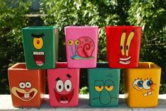 Spongebob Poster by oneskillwonder on DeviantArt Painted Plant Pots, Painted Flower Pots, Mummy Crafts, Flower Pot Art, Mickey Mouse 1st Birthday, Pottery Painting Designs, Pot A Crayon, Cool Wall Art, Martha Stewart Crafts