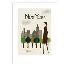New York Print by Blanca Gomez